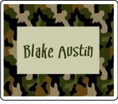 Cool Camo Rectangle Sticker