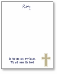 Cross with Verse Scratch Pad
