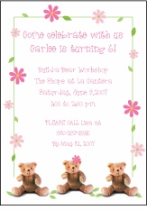 Dainty Flowers Birthday Invitation