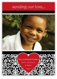 Damask Valentine's Day Photo Card