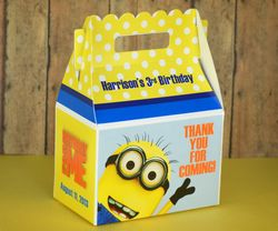 Despicable Me Birthday<br>Personalized Gable Box Party Favor