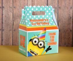 Despicable Me Minion Hats<br>Personalized Gable Box Party Favor