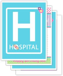 Doc McStuffins Birthday Party<br>Personalized Signs, 4 pack