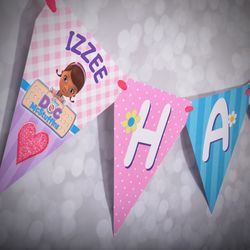 Doc McStuffins Personalized Birthday Banner