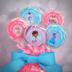 Doc McStuffins Personalized Lollipop Favors