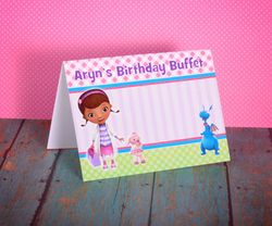 Doc McStuffins Personalized Table Tent Signs