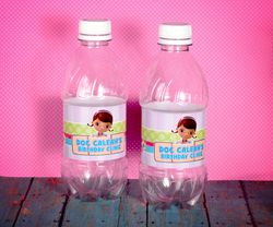 Doc McStuffins Personalized Water Bottle Labels<br>Self Adhesive