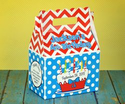 Dr. Seuss Party Theme Seussy Cake<br>Personalized Gable Box Favor