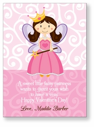 Fairy Princess Personalized Valentine