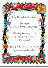 Fiesta Loco Party Invitation