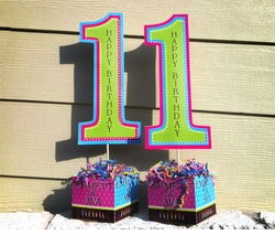 First Birthday Collage<br>Personalized Table Centerpiece