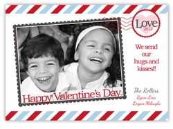 First Class Love Letter Valentines Photo Card