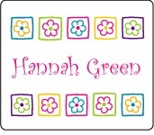 Flower Blocks Rectangle Sticker