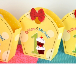 First Birthday Dots Twins <br>Personalized Favor Tote