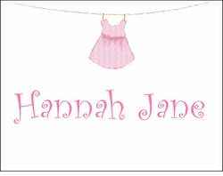 Girl Clothesline Note Cards