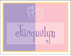 Girl Color Block Note Cards