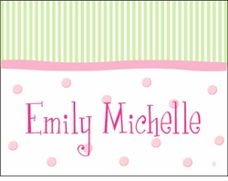 Girl Stripes-n-Dots Note Cards