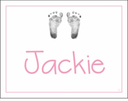 Girl Sweet Feet Note Cards