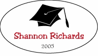 Graduation Oval Sticker