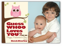 Guess WHOO Owl Valentine�s Day Photo Card