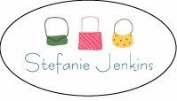 Handbags Oval Sticker