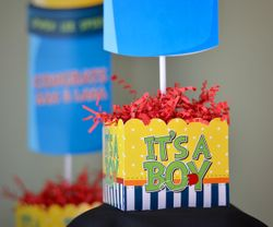It's A Boy Baby Bottle<br>Personalized Table Centerpiece