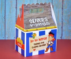 Jake & the Neverland Pirates Bucky Box<br>Personalized Gable Box Party Favor