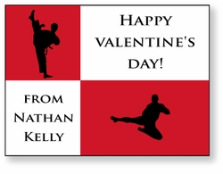 Karate / Martial Arts Personalized Valentine