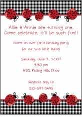 Lots of Ladybugs Invitation