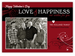 Love Flourish Photo Valentine�s Day Card