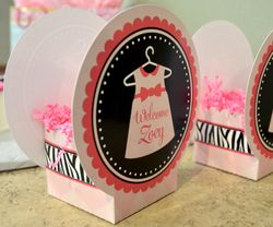 MADE-TO-MATCH<br>Pair of Personalized Baby Shower Table Centerpieces