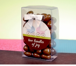 MADE-TO-MATCH<br>Personalized Candy Box Twins Baby Shower Favor