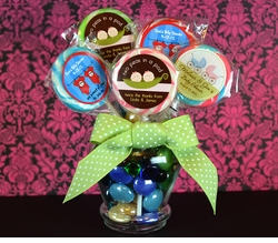 MADE-TO-MATCH<br>Personalized Twins Baby Shower Lollipop Favors