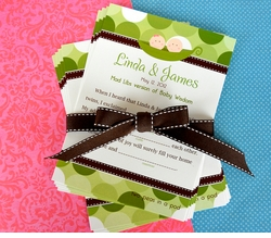MADE-TO-MATCH<br>Singleton or Twins Baby Shower Mad Libs Game & Keepsake