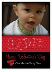 Metro Dots Photo Valentine�s Day Card