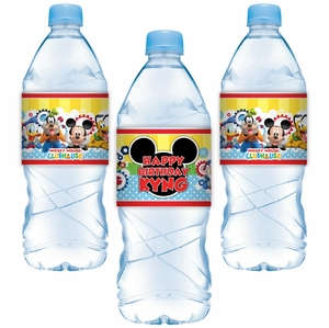 Mickey Mouse Clubhouse Party Adhesive Water Bottle Labels
