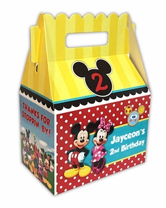 Mickey Mouse Clubhouse Party Gable Favor Box