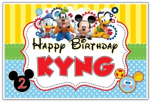 Mickey Mouse Clubhouse Personalized Party Posters