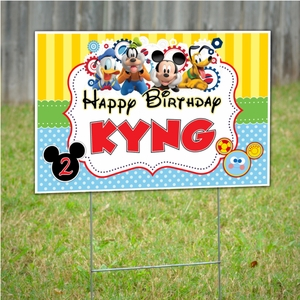 Mickey Mouse Clubhouse Personalized Party Yard Sign