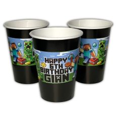 MineCraft Personalized Warm or Cold Paper Party Cups