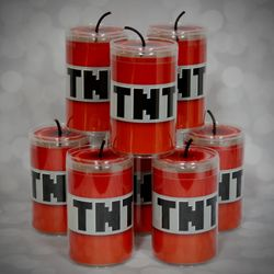 MineCraft TNT Candy Can Favor Box