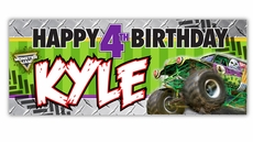 Monster Jam Grave Digger Monster Truck Party Large Vinyl Party Banner