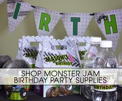 Monster Jam & Grave Digger Truck Party Supplies