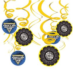 Monster Jam Hanging Spinners Decorations