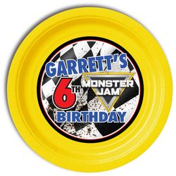 Monster Jam Party Personalized 9inch Meal Plates