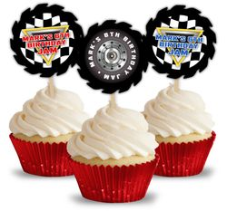 Monster Jam Party Personalized Cupcake Toppers