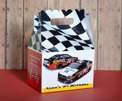 Nascar Race Car Party Tony Stewart<br>Personalized Gable Box Party Favor