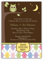 Night Owl Baby Shower Invitation