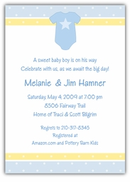 Onsie Boy Baby Shower Invitation