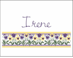 Pansie Row Note Cards